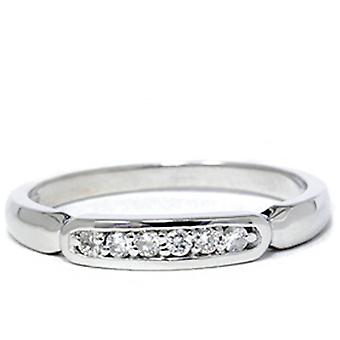 White Gold 1/10ct Diamond Anniversary Wedding Womens Promise Ring High Polished