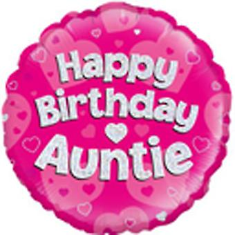 Oaktree 18 Inch Holographic Foil Birthday Auntie Balloon