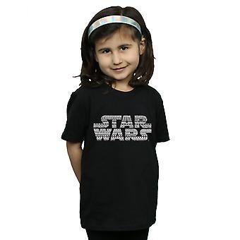 Star Wars Girls Aztec Logo Mono T-Shirt