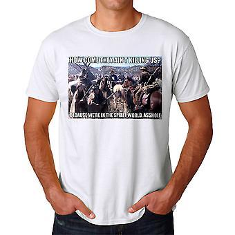 Unge kanoner ånd World mænds hvid T-shirt