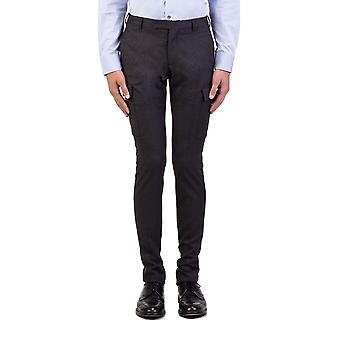 Dior Homme mannen wol Slim Fit Cargo Dress broek broek grijs