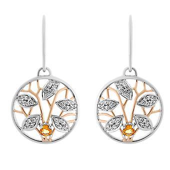 Orphelia Silver 925 Earring Rose/White Citrin  ZO-7090/1