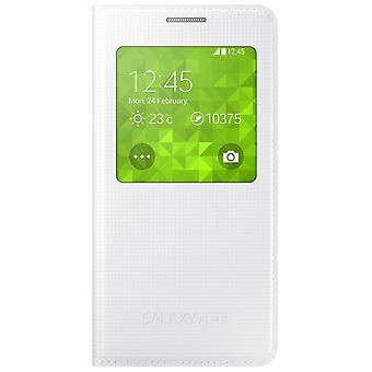 Samsung Galaxy Alpha flip S-view cover cover EF-CG850BWEG white
