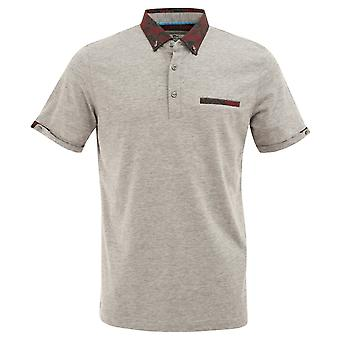 Claudio Lugli Paisley Patterned Regular Fit Pique Mens Polo T-shirt