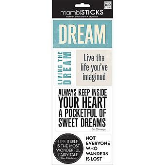 Sayings Stickers-Dream