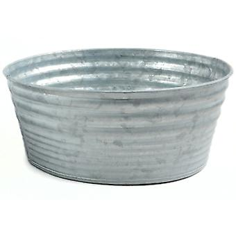 Galvanized Tin Round Container -8
