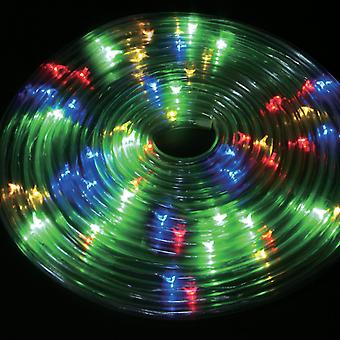 50 LED Solar Powered 5m Rope Light White or Multi Outdoor Strip Tube Party Lights Xmas Garden