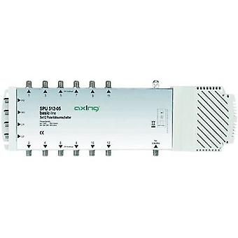 Axing SPU 512-05 SAT multiswitch ingressi (multiswitch): 5 (4 SAT/1 terrestre) No. dei partecipanti: 12 Quad LNB compatibile