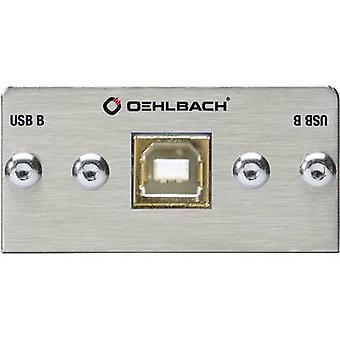 USB 2.0 Multimedia-Einschub + Fanout-Kabel Oehlbach PRO IN MMT-C USB.2 B/B