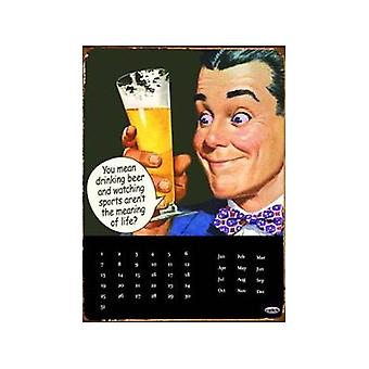 Drinking Beer And Watching Sport Everlasting Wall Calendar
