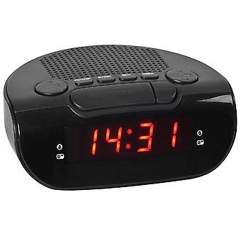 Atlanta 90006 alarm clock power clock radio alarm clock digital black snooze digital alarm clock
