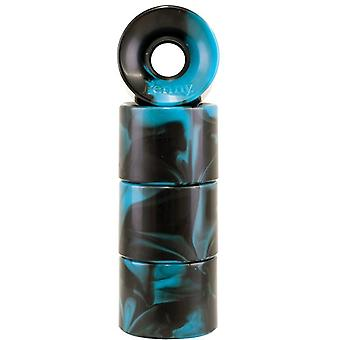 Penny Cyan-Black Swirl Series - 59mm Cruiser Wheels