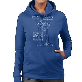 Nintendo NES Advantage Controller Patent Blueprint Women's Hooded Sweatshirt