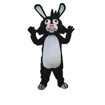 mascot SPOTSOUND of black and white, rabbit with big ears