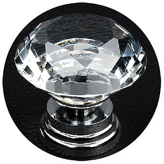 TRIXES 2 x Diamant Glas Griffe für Schranktüren und Schubladen