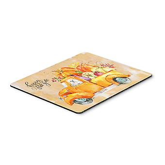 Carolines Treasures  CK2626MP Fall Harvest Maltese Mouse Pad, Hot Pad or Trivet