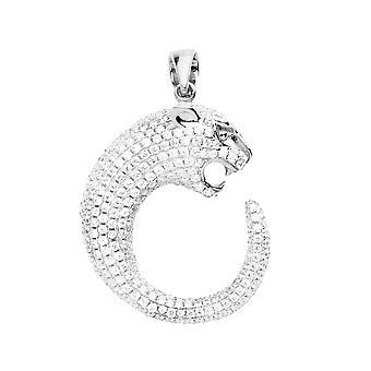 925 iskallt ut sterling silver pendant - silver PANTHER