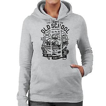 Gamla skolan Ride VW Beatle Women's Hooded Sweatshirt