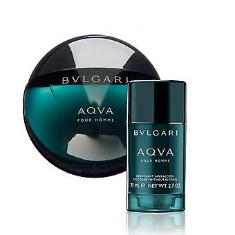 Zestawie prezentowym Bvlgari Aqva Pour Homme Edt 100 ml + Dezodorant w sztyfcie 75 ml