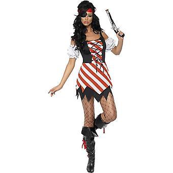 Fever Pirate Costume, UK Dress 8-10