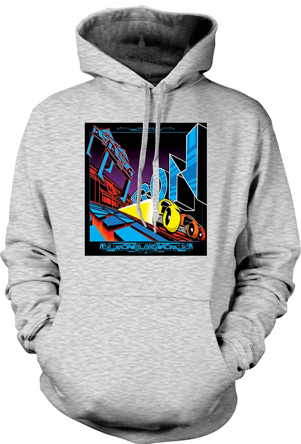 Mens Hoodie - Tron - Pop-Art - Cool B-Movie