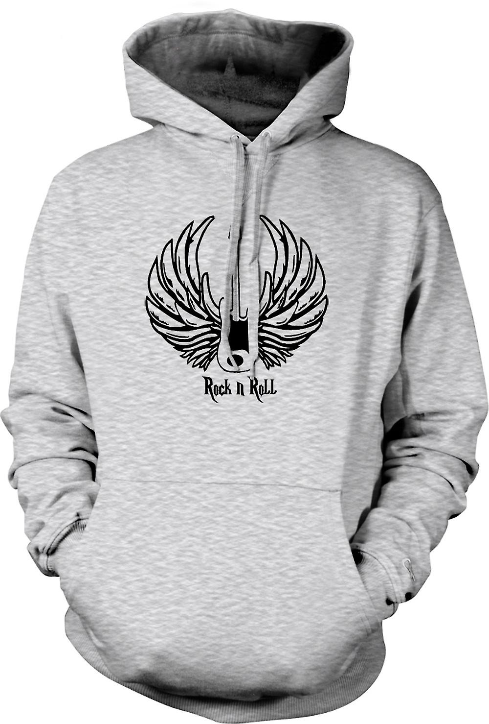Mens Hoodie - Rock n Roll - Gitarre Wings - Musik