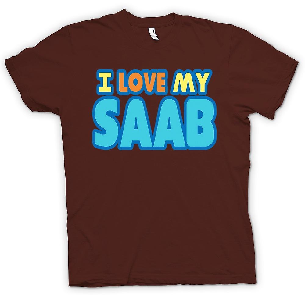 Mens T-Shirts - ich liebe mein Saab - Auto-Enthusiasten