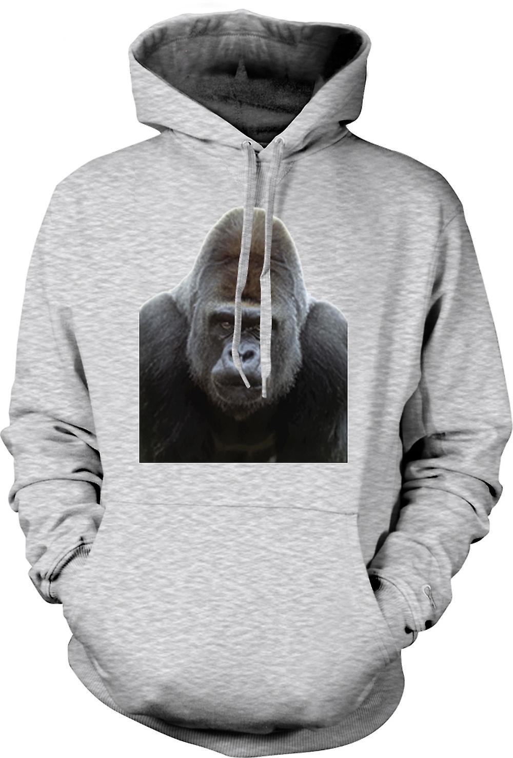 Mens Hoodie - Gorilla Silverback Portrait