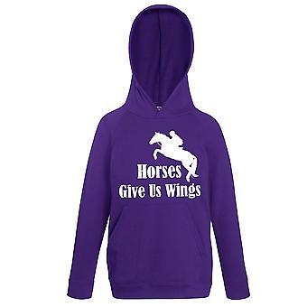 Horses Give Us Wings Purple Hoody