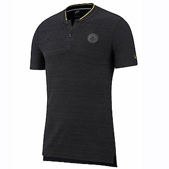 2018-2019 Man City Nike Authentic Grand Slam Polo Shirt (Black)