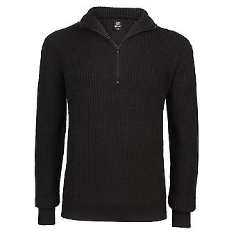 Brandit men's sweater Navy half-Zip Sweater