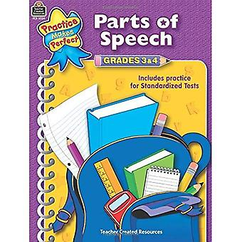 Parts of Speech: Grades 3 & 4