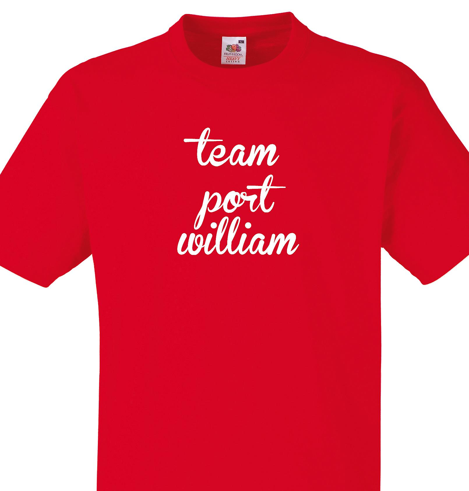 Team Port william Red T shirt