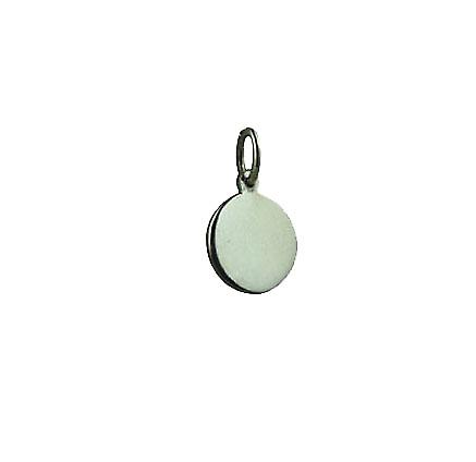 Silver 10mm plain round Disc
