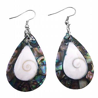 Wholesale Abalone Natural Shell Earrings Teardrop Shell Jewelry Gift