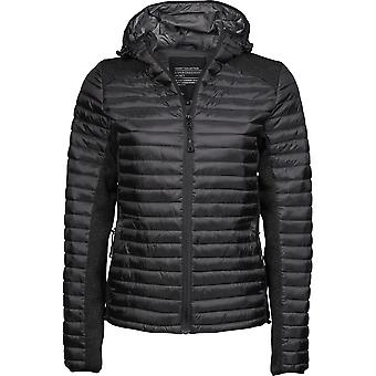Tee Jays Womens/Ladies Crossover Hooded Padded Outdoor Jacket