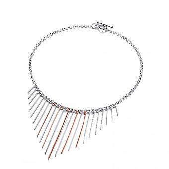 Cavendish French Sterling Silver and Copper Dreamcatcher Necklace