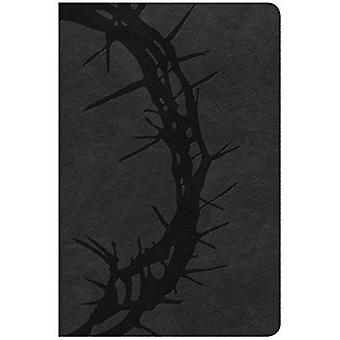 CSB Large Print Personal Size Reference Bible, Charcoal Leathertouch