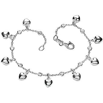 Bella Multi Heart Bracelet - Silver