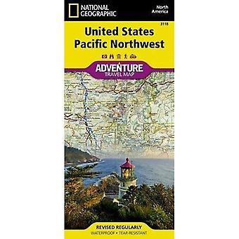 United States, Pacific Northwest Adventure Map