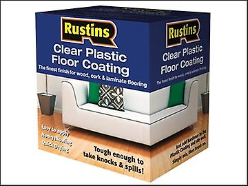 Rustins Clear Plastic Floor Coating Kit Satin 1 Litre