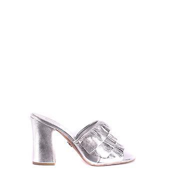Michael Kors argento pantofole in pelle