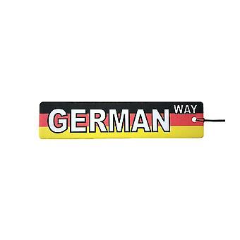 German Way Street Sign Car Air Freshener