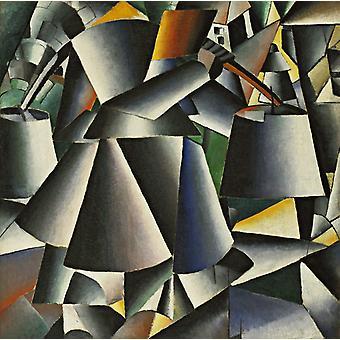 Arranjo de inervação, Kasimir Malevich, 50x50cm