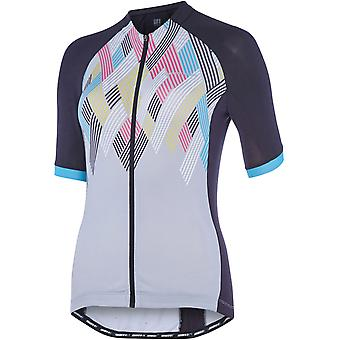Madison Black-Silver Grey Crosshatch 2018 Sportive Womens Short Sleeved Cycling