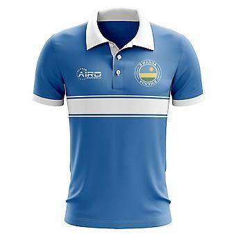 Rwanda koncepcja koszula Polo z paskiem (niebieski)