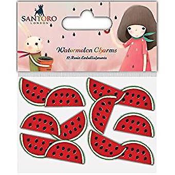 Hantverk konsortiet Santoro harts Charms - Melon (SKKCHRM001)
