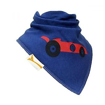 Blå & röd racing bil bandana bib