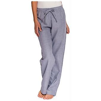 British Boxers Ash Herringbone Two Fold Flannel Pyjama Trousers - Grey