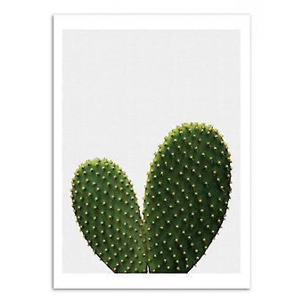 Konst-affisch-Heart Cactus-Orara Studio 50 x 70 cm